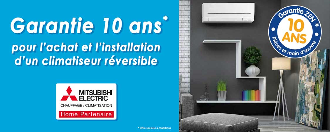 thermo conseils intervention sur Chinon climatiseur garantie 10 ans RGE QualiPAC Mitsubishi home partenaire
